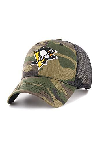 47_brand Gorra NHL Pittsburgh Penguins MVP Trucker Camo Branson Verde/Negro/Multi Talla: OSFA (Talla única para Todos sexos)