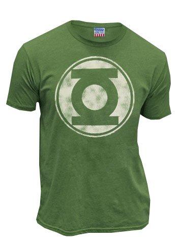 Green Lantern Distressed Logo Mens T-Shirt