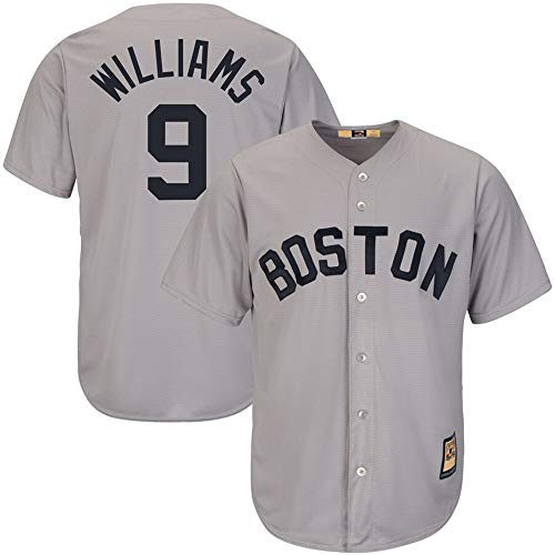 - Mens #9 Ted Williams Boston Red Sox Big & Tall Cooperstown Cool Base Player Jersey - Gray XXL