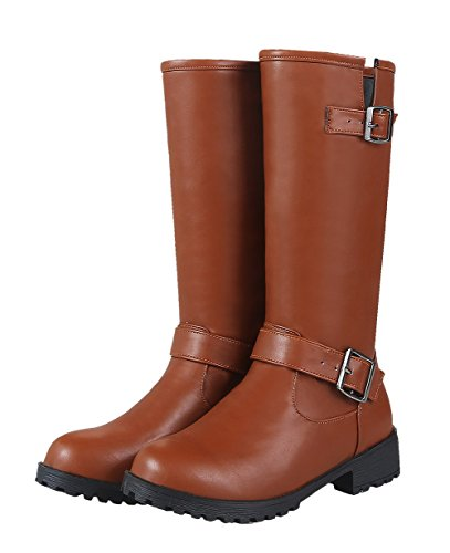Sandalen Keilabsatz AgeeMi EuX95 Plateau Shoes Damen Durchgängies Braun mit Eux95 q40rx0URXw