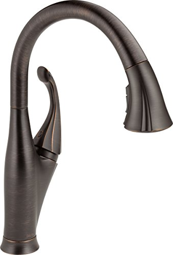 Delta Faucet Addison Single-Handle Kitchen Sink Faucet with Pull Down Sprayer, ShieldSpray Technology and Magnetic Docking Spray Head, Venetian Bronze 9192-RB-DST