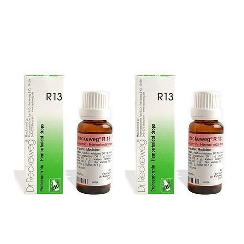 2 x Dr  Reckeweg - Homeopathic Medicine - R13 - Piles Drops