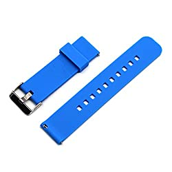 Motong 22mm Silicone Watch Band With Quick Remove For Moto 360 Watch 2nd Gen,men's 46mm & Samsung R380 R381 R382,lg W100 W110 W150 Urbane Lte,asus Zenwatch & Samsung Gear S3 Classic