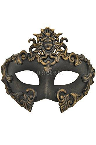 Gold Greek Venetian Masquerade Mask - Roman Warrior by Venetian