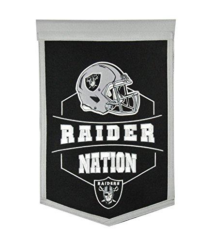 Winning Streak Oakland Raiders Official NFL 12'' x 18'' Revolution Traditions Wall Banner 612204 by Winning Streak