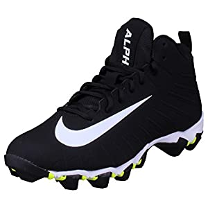 NIKE Men's Alpha Menace Shark Football Cleats (9.5, Black/White)