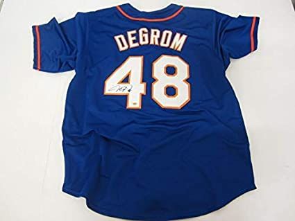 on sale 869f2 1965b Jacob DeGrom New York Mets Autographed replica jersey at ...