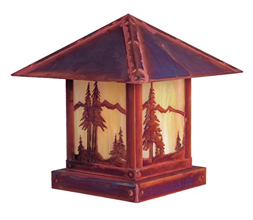 Cactus Filigree - Arroyo Craftsman TRC-16CTCR-BZ Timber Ridge Column Mount with Cactus Filigree, 16