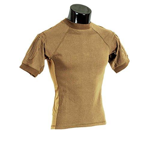 - VooDoo Tactical 01-9583007093 Combat Short Sleeve Shirt, Coyote, Medium