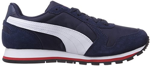 Puma ST Runner NL Jr - zapatilla deportiva de material sintético infantil Azul - Blau (peacoat-white-high risk red 03)