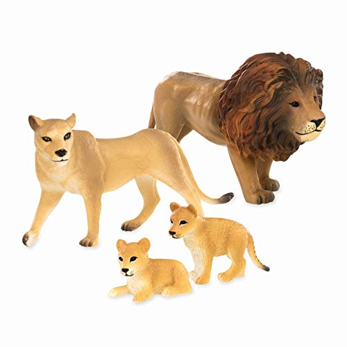 Terra by Battat - Lion Family - Miniature Lion Animal Figurines for Kids 3-Years-Old & Up (4 - Family Animals