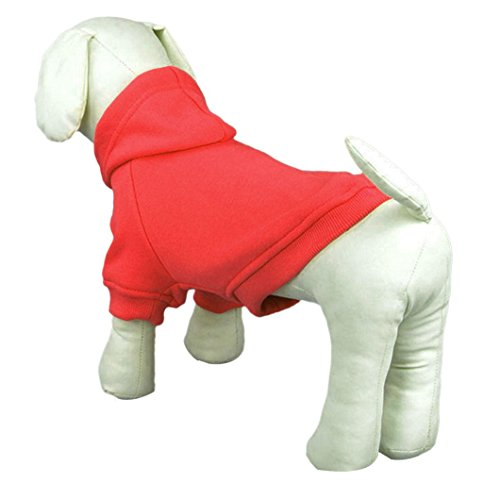 dzt1968 1 pc Fashion Winter Pet Puppy Dog Cat Coat Clothes Hoodie Sweater Costumes (S, RD) Review