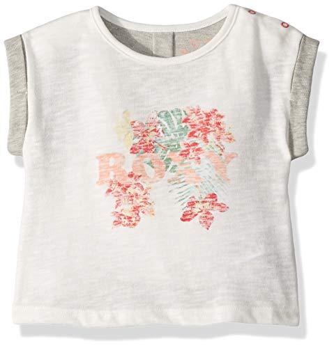 Roxy Girls' Toddler Sunset Short Sleeve T-Shirt, Marshmallow, 2