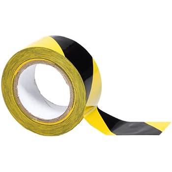 Amazon.com: Black & Yellow Safety Floor Tape 2'' X 36 Yard Roll ...