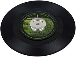 Adaptador de 45 RPM para tocadiscos (aluminio, 17,7 cm)