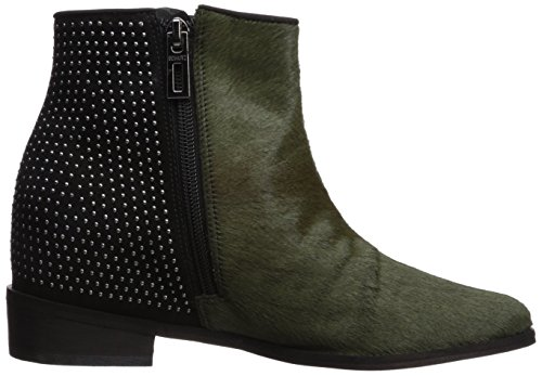 Schutz Millitary Women's Ankle Wedge New Black Hidden Boot Louise Chelsea Studded g4AgwCq