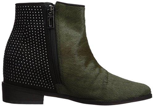 Millitary Studded New Black Schutz Louise Women's Wedge Hidden Boot Ankle Chelsea 6RRPq8wz