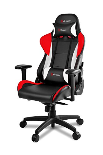 Arozzi Verona Pro V2 Premium Racing Style Gaming Chair with High Backrest, Recliner, Swivel, Tilt, Rocker and Seat Height Adjustment, Lumbar and Headrest Pillows Included, Red