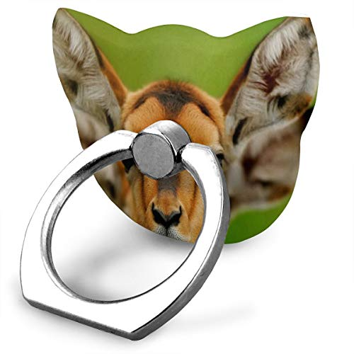 Ring Phone Holder Cat Type Adjustable 360° Rotation Eared Deer Wildlife Funny Animals Ring Holder Fit Phone X/6/6s/7/8/8 Plus/7, Galaxy, Android, Smartphone ()