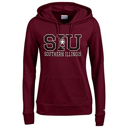 Champion NCAA Women's Comfy Fitted Sweatshirt University Fleece Hoodie Southern Illinois Salukis Medium