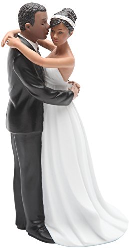 Cosmos Gifts 33268 Ceramic African American Wedding Couple Figurine, 7-Inch