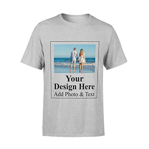 Arokan Customize Shirts for Men Custom T Shirts Design Your Own Crew Neck Mens Personalized Tshirts