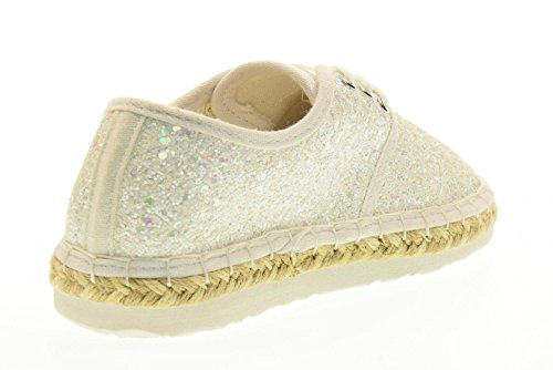 LA01 Lightweight Shoes Glitter Ibiza Kelly Lelli LK4608 37 UK 4 Bianco Espadrille CUxqfYC8wE