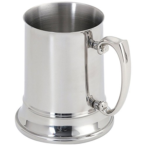 - MyLifeUNIT Double Walled Engraved Beer Mug, Stainless Steel Tankard Beer Stein 16 Oz/1 Pint