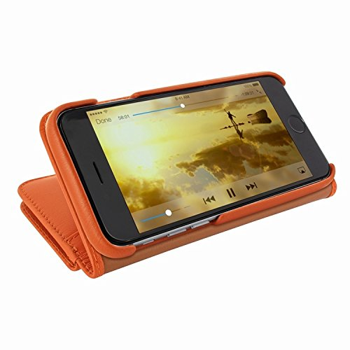 Piel Frama 717 Orange WalletMagnum Leather Case for Apple iPhone 6 Plus / 6S Plus by Piel Frama (Image #3)