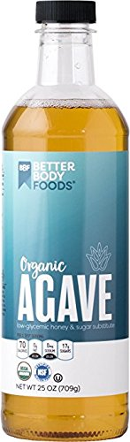 BetterBody Foods Organic Agave Low-Glycemic Honey & Sugar Substitute 25 oz. (Pack of 2)