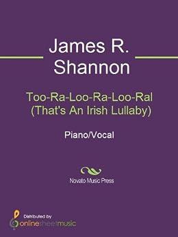 too ra loo ra loo ral sheet music pdf