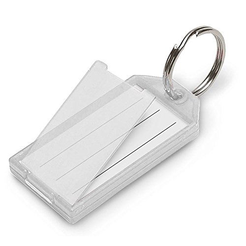 (Lucky Line Key Tag with Flap and Split Ring, 10-Pack, Clear (6051010))