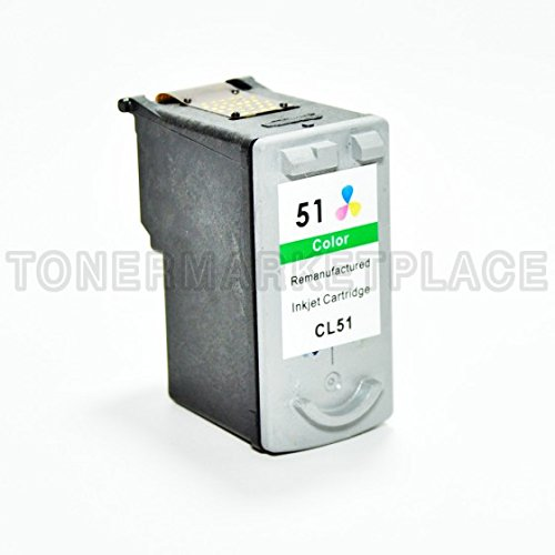 INKUTEN CL-51 High Capacity Color Remanufactured Inkjet Cartridge - 51 Color Capacity Cl High