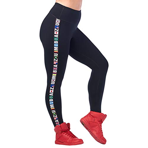 Zumba High Waisted Leggings for Women Dance Compression Butt Lift Workout Pants