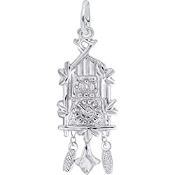 Rembrandt Cuckoo Clock Charm - Metal - Sterling Silver