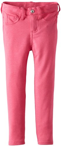 Almost Famous Little Girls' Glitter Knit Pant, Pink Fresh, 5