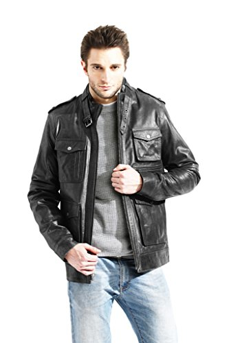 mens-military-leather-field-jacket-slim-fit