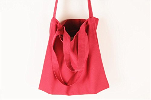 Large protection Canvas apm Cross 12 Body Shoulder Eco Capacity Shopper Woman Red Handtas RnERvxg