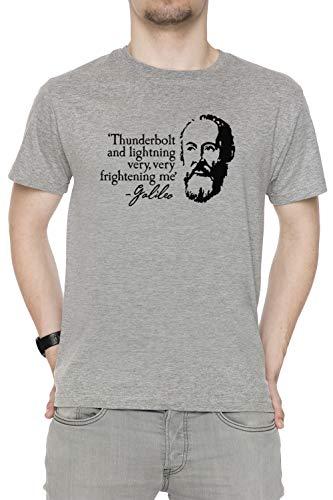 Corte shirt Thunderbolt Galileo Uomo T Very Lightning Sizes Frightening Tutti Girocollo And Men's Grey All Dimensioni Me Maniche Grigio 7Arxz7d
