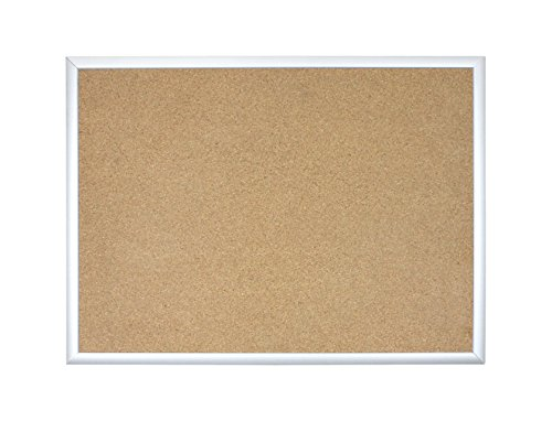 U Brands Basics Cork Bulletin Board, 23 x 17 Inches, Silver Aluminum ()