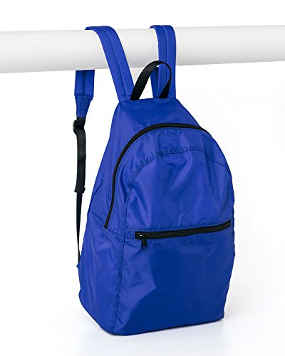 Nylon Ripstop Daypack (Ripstop Nylon Backpack, Lightweight Packable Backpack Ideal for Travel or the Gym, Cobalt)
