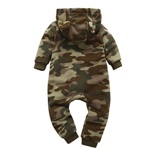 G-real Thick Romper, Newborn Baby Boys Girls Print Hooded Romper Jumpsuit Warm Sleep Bodysuit Clothes For 6-24M