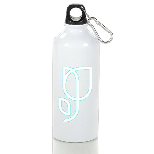 SIHA Dos LOVA Green Rose Aluminum Sport Water Bottle, Great For Outdoor And Sport Activities. Metal Hook On The Top 500ml