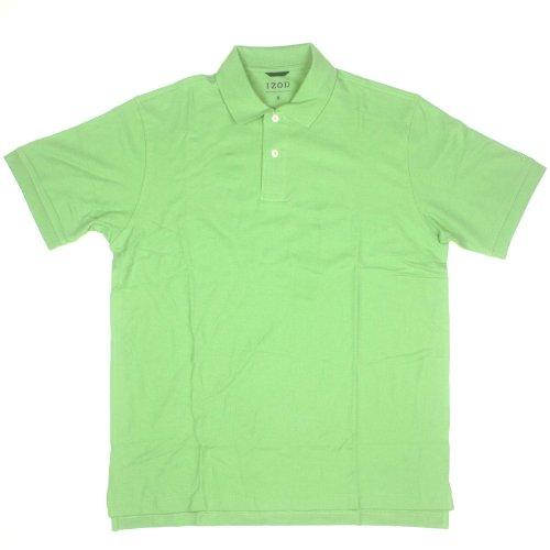 Izod Mens Short Sleeve Pima Cotton Polo Medium Green