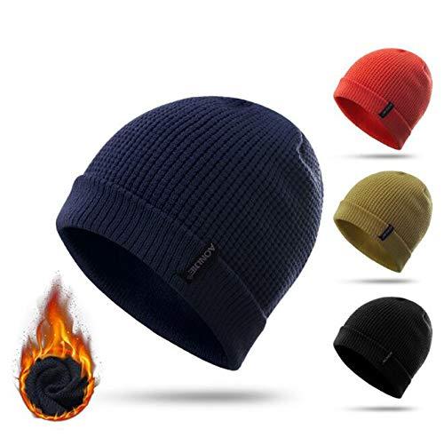 AONIJIE Men Women Sport Running Beanie Winter Soft Warm Hats Spandex  Knitted Caps Ski Hat Cap 6c5add1c08f