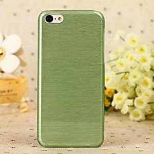 Mini - Solid Color Glass Wiredrawing PC Hard Cover for iPhone 6 , Color-Green
