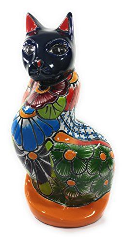 ing Cat- Authentic Mexican Pottery for Indoor and Outdoor Use ()