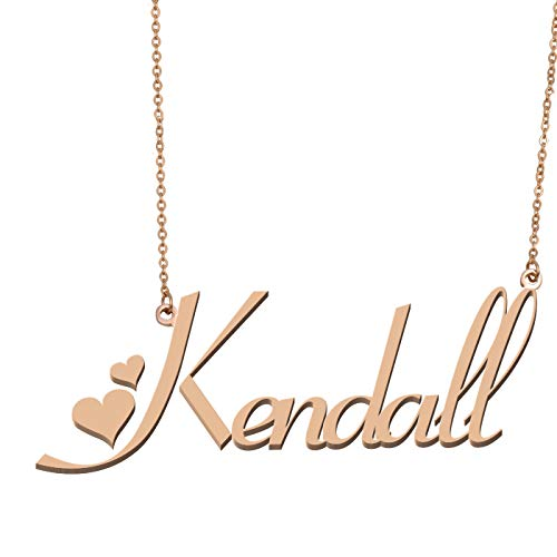 Aoloshow Customized Custom Name Necklace Personalized - Custom Made Kendall Necklace Initial Monogrammed Gift for Womens Girls