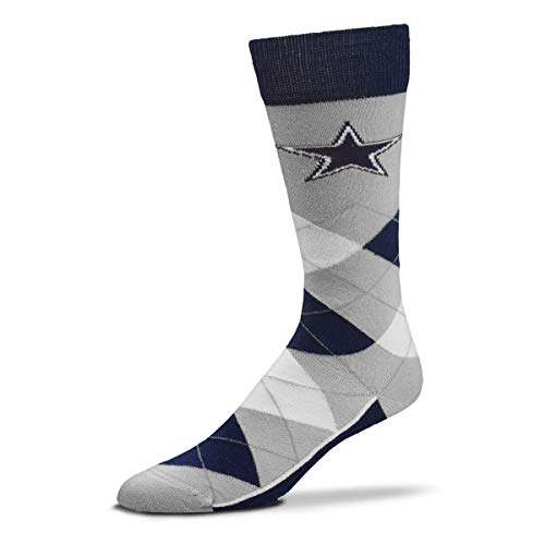 For Bare Feet - NFL Argyle Lineup Men's Crew Socks - One Size Fits Most (Dallas Cowboys) ()