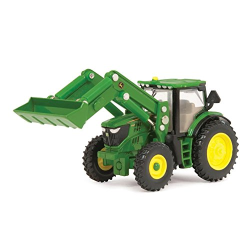 John Deere Ertl 6210R Toy Tractor with Front Loader (1:64 Scale)
